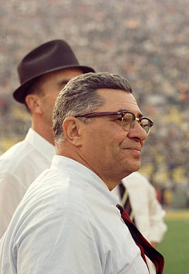 Vince Lombardi Surveying The Field Print by Retro Images Archive