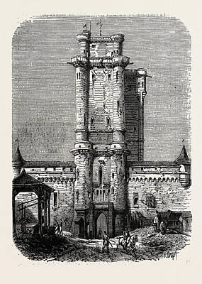 Vincennes Drawing - Vincennes, Entrance To The Fort by Litz Collection