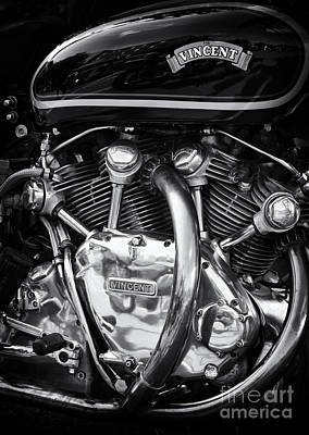 Photograph - Vincent Engine by Tim Gainey