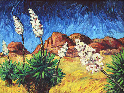 Arizona Painting - Vincent In Arizona by James W Johnson