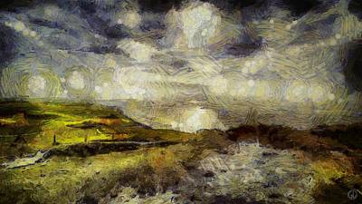Van Gogh Digital Art - Vincent Sky by Gun Legler
