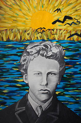 Painter Mixed Media - Vincent Van Gogh 17 Years Old by Dennis Nadeau