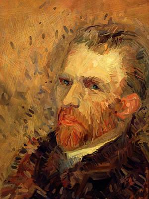 Van Gogh Painting - Vincent Van Gogh By Briex After Van Gogh by Nop Briex