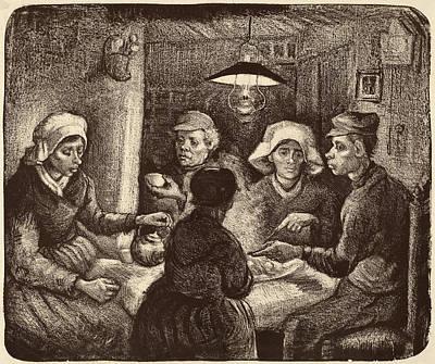 Vincent Van Gogh Drawing - Vincent Van Gogh Dutch, 1853 - 1890, Potato Eaters by Quint Lox