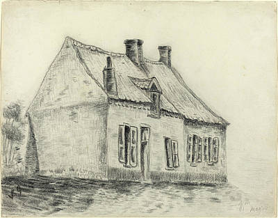 Vincent Van Gogh Drawing - Vincent Van Gogh Dutch, 1853 - 1890, The Magrot House by Quint Lox