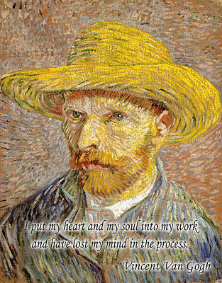 Photograph - Vincent Van Gogh Quotes 1 by Andrew Fare