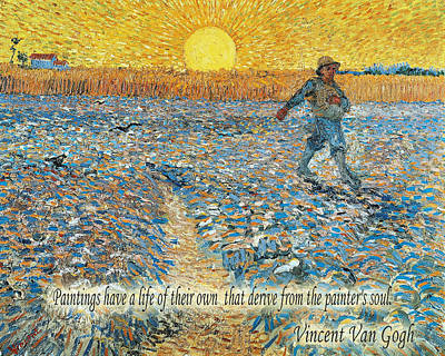 Photograph - Vincent Van Gogh Quotes 5 by Andrew Fare