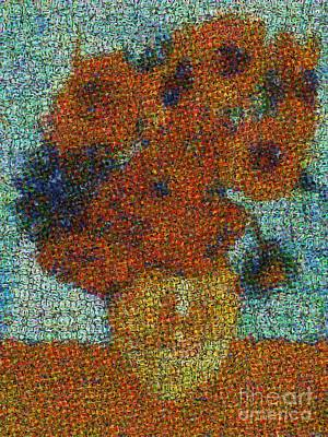 Photograph - Vincent Van Gogh Sunflowers 2.0 - V2 by Edward Fielding