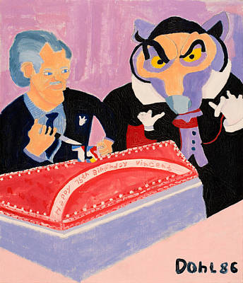 Painting - Vincent Price's Birthday by Don Larison