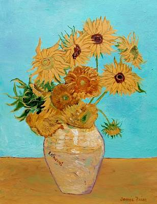 Painting - Vincent's Sunflowers by Jamie Frier