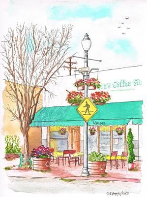 Vinces Coffee Shop In Santa Paula, California Art Print by Carlos G Groppa