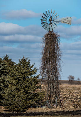 Old Mill Scenes Photograph - Vine Covered Windmill by Paul Freidlund