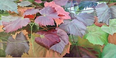 Vine Leaves Original by Deanne Salter