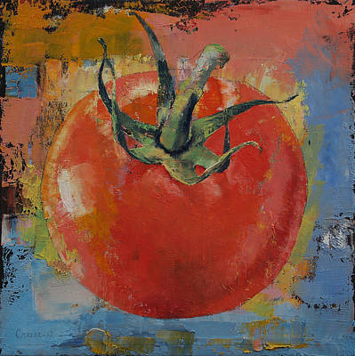 Vine Tomato Art Print by Michael Creese