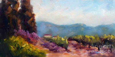 Napa Valley Vineyard Painting - Vines by Carolyn Jarvis