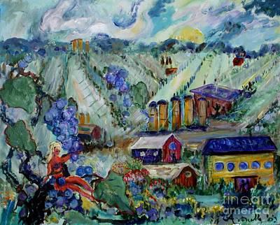 California Vineyard Painting - Vineyard #2  by Avonelle Kelsey