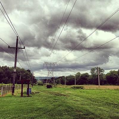 Vineyard Photograph - #vineyard #clouds #wires #vineyard by Ankur Agarwal