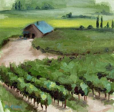 Painting - Vineyard Cottage by Erin Rickelton