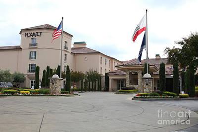 Vineyard Creek Hyatt Hotel Santa Rosa California 5d25787 Art Print by Wingsdomain Art and Photography
