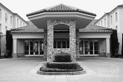 Vineyard Creek Hyatt Hotel Santa Rosa California 5d25792 Bw Art Print by Wingsdomain Art and Photography