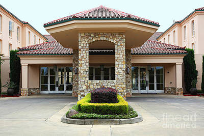 Vineyard Creek Hyatt Hotel Santa Rosa California 5d25792 Print by Wingsdomain Art and Photography