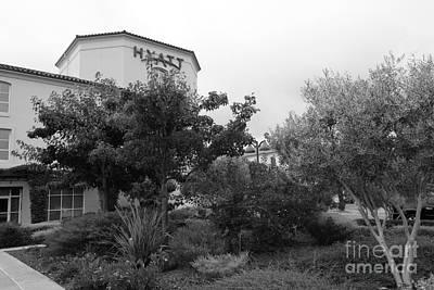 Vineyard Creek Hyatt Hotel Santa Rosa California 5d25795 Bw Art Print by Wingsdomain Art and Photography
