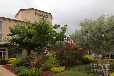 Vineyard Creek Hyatt Hotel Santa Rosa California 5d25795 Print by Wingsdomain Art and Photography
