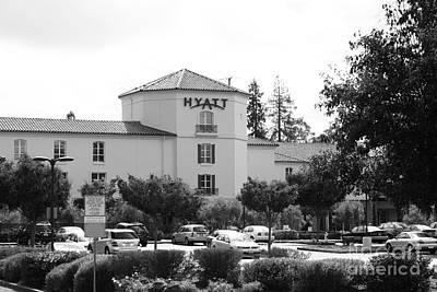 Vineyard Creek Hyatt Hotel Santa Rosa California 5d25866 Bw Art Print by Wingsdomain Art and Photography