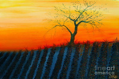Painting - Vineyard by David Kacey