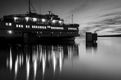 Photograph - Vineyard Ferry by Steve Myrick