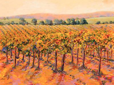 Vineyard Gold Art Print by B J  Stapen