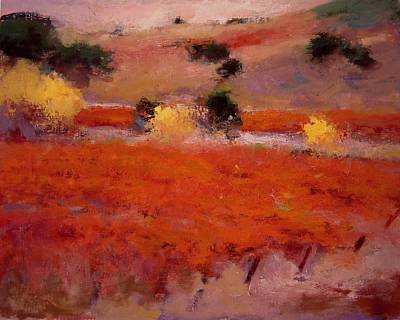 California Vineyard Painting - Vineyard In Paso Robles by R W Goetting