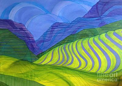 Napa Valley Vineyard Painting - Vineyard by Lynellen Nielsen