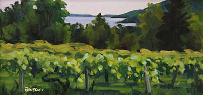 Painting - Vineyard Morning by Barbara Jones