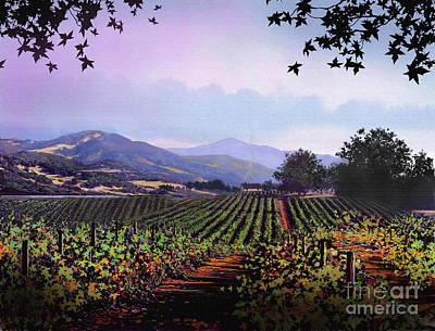 Napa Digital Art - Vineyard Napa Sonoma by Robert Foster