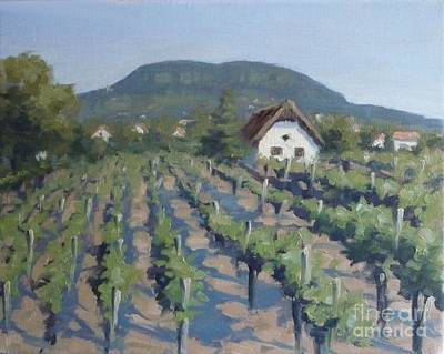 Tuscan Hills Painting - Vineyard Of Badacsony by Viktoria K Majestic