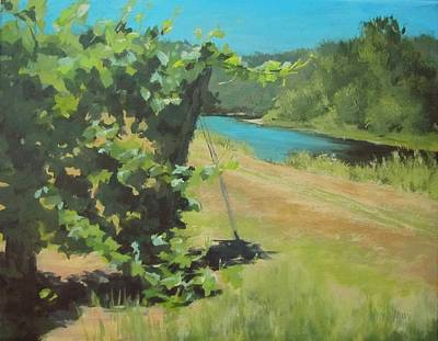 Painting - Vineyard On The River by Karen Ilari