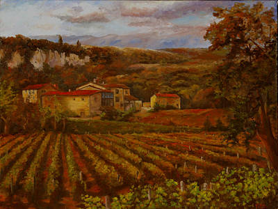 Art Print featuring the painting Vineyard by Rick Fitzsimons