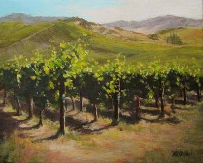 Painting - Vineyard Summer by Karen Ilari