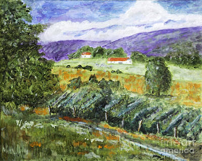 Napa Valley Vineyard Painting - Vineyard by Timothy Hacker