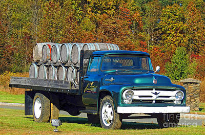 Vineyard Truck Art Print by Marian DeSalvo-Rodgers