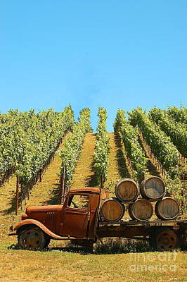 Photograph - Vineyard Truck by Tamyra Crossley