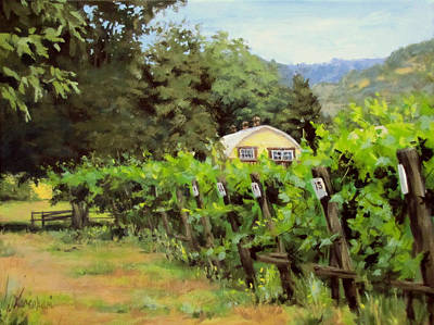 Painting - Vineyard View by Karen Ilari