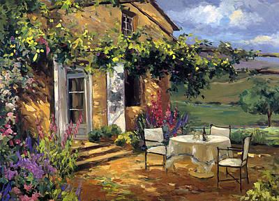 Villa Painting - Vineyard Villa by Allayn Stevens