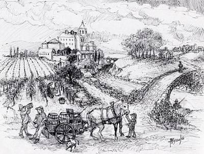 Vineyard Workers Art Print