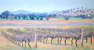 Country Scene Painting - Vineyards by Jan Matson