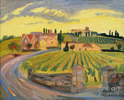 Painting - Vineyards Of St. Emilion by Katia Weyher