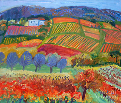 Painting - Vineyards. South Of France by Katia Weyher