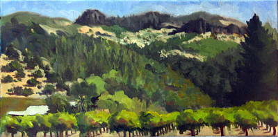 Vineyards Under The Palisades Original by Char Wood