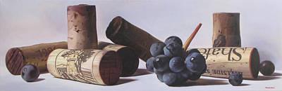 Italian Wine Painting - Vinificazione In Rosso by Takayuki Harada